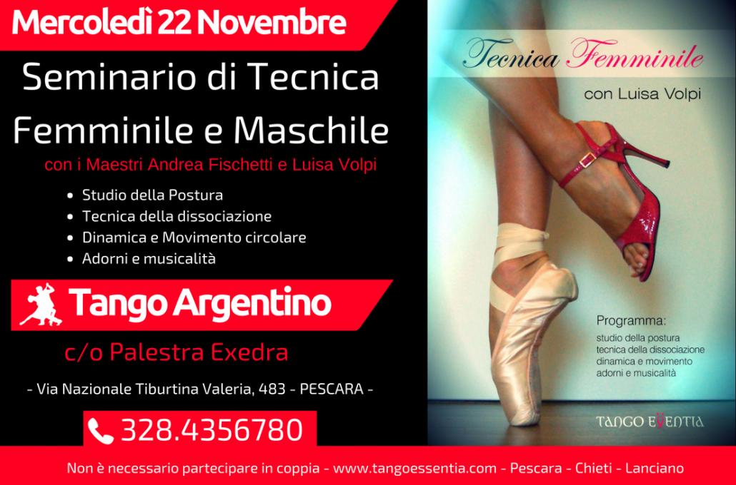 Lezioni di tecnica di tango argentino con Tango Essentia