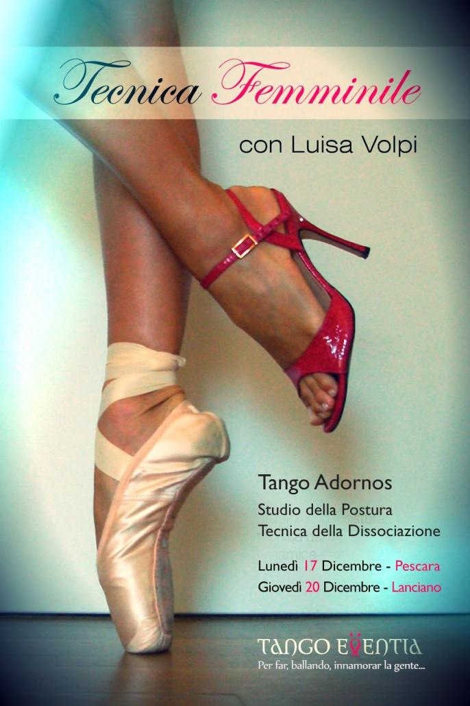 Lezioni di tecnica femminile di tango