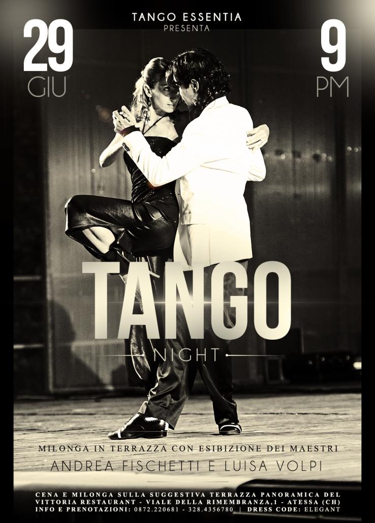 Esibizione e tango in terrazza ad Atessa