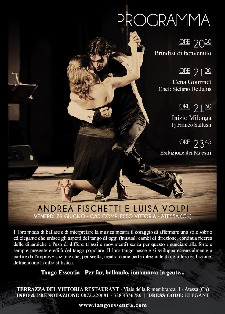 Programma esibizione dei maestri Andrea Fischetti e Luisa Volpi