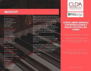 Brochure concerto Conservatorio L. D'Annunzio