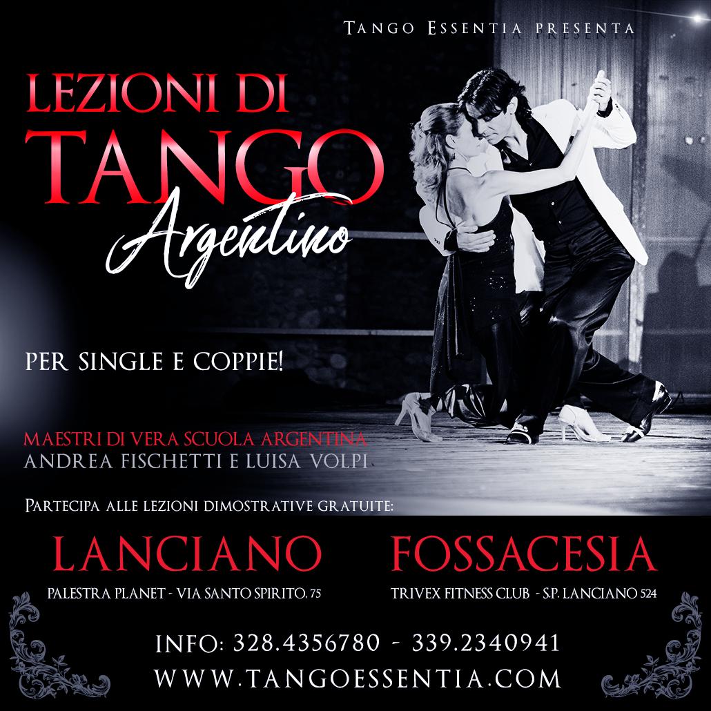Corsi di tango argentino a Lanciano e Fossacesia