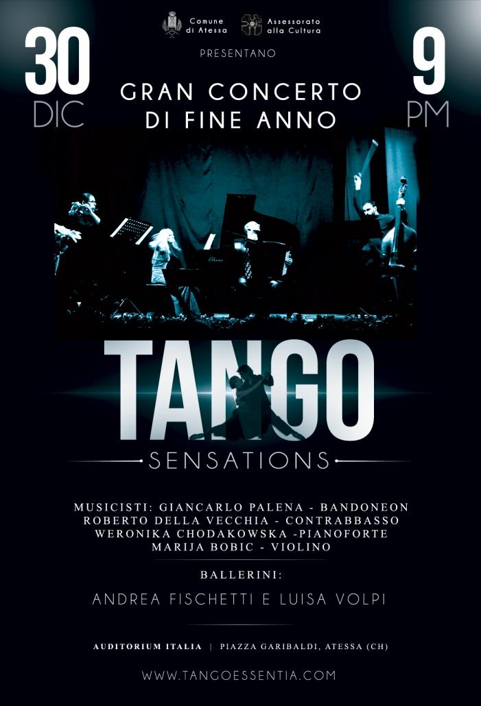 Gran concerto di fine anno ad Atessa con Tango Essentia