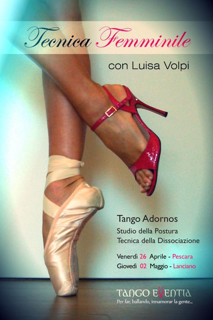 Tecnica femminile e maschile di Tango Argentino