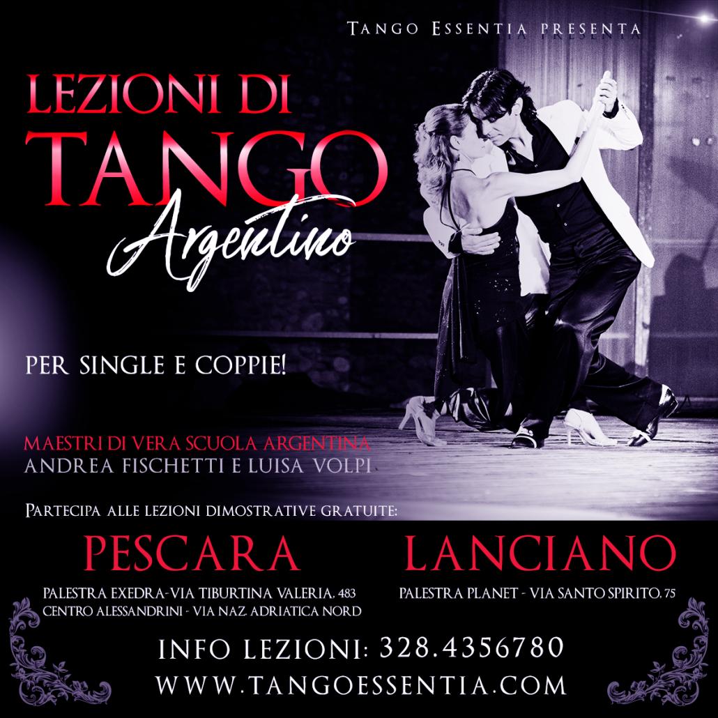 Scuola di tango argentino a Pescara e Lanciano con Tango Essentia.